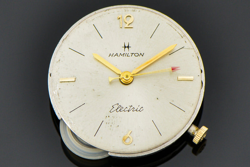 Hamilton Electric 14K Yellow Gold Savitar Watch Dial | Vintage