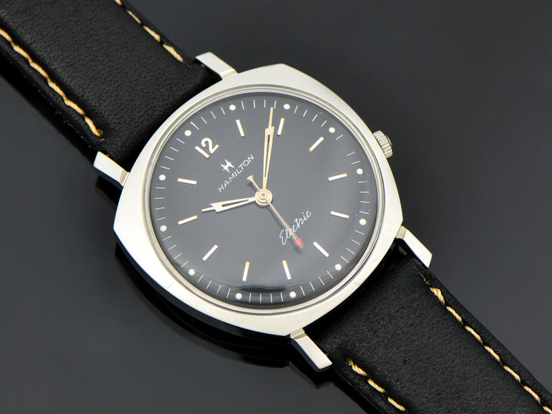 Hamilton Electric Custom Black Dial Sea-Lectric II Watch | Vintage
