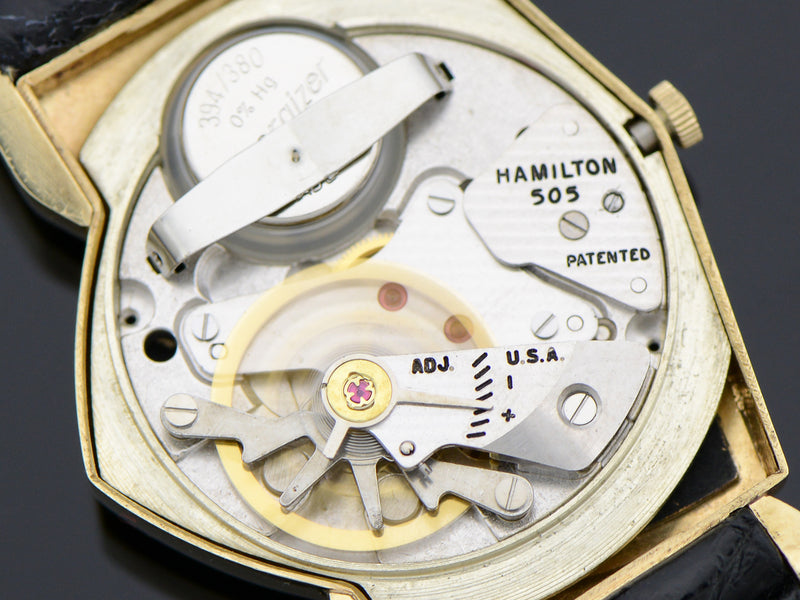 Hamilton Electric GE Breakthrough 60 14K Gold Pacer (Ventura II) Vintage Watch 505 Electric Movement