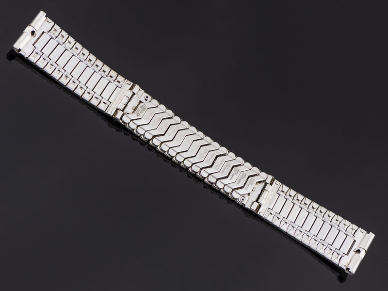Hamilton Electric Gemini White Gold Filled Watch Bracelet Back