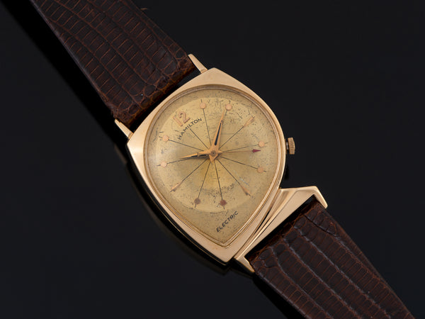 Hamilton Electric Meteor With Prototype Gold Dial Watch