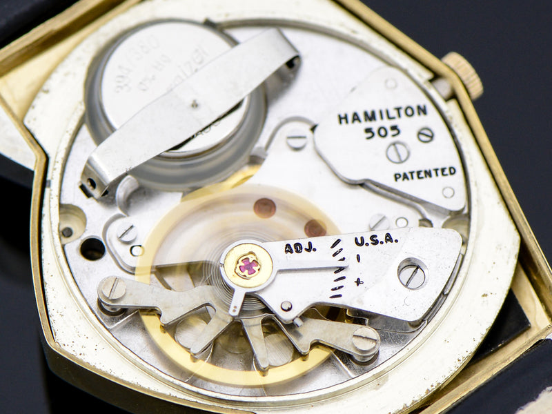 Hamilton Electric Original Finish Black Dial Pacer Vintage Watch 505 Electric Movement