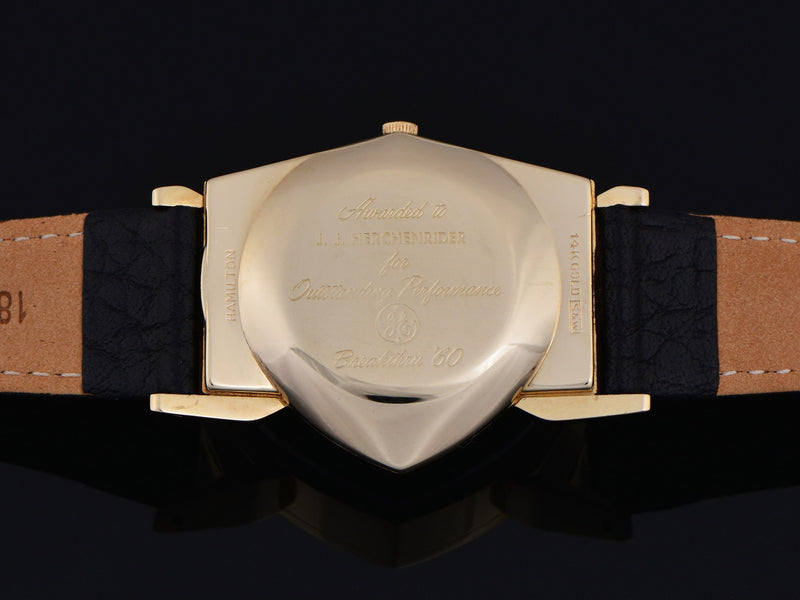 Hamilton Electric Pacer GE Breakthru '60 14K Gold (Ventura II) Watch Case Back