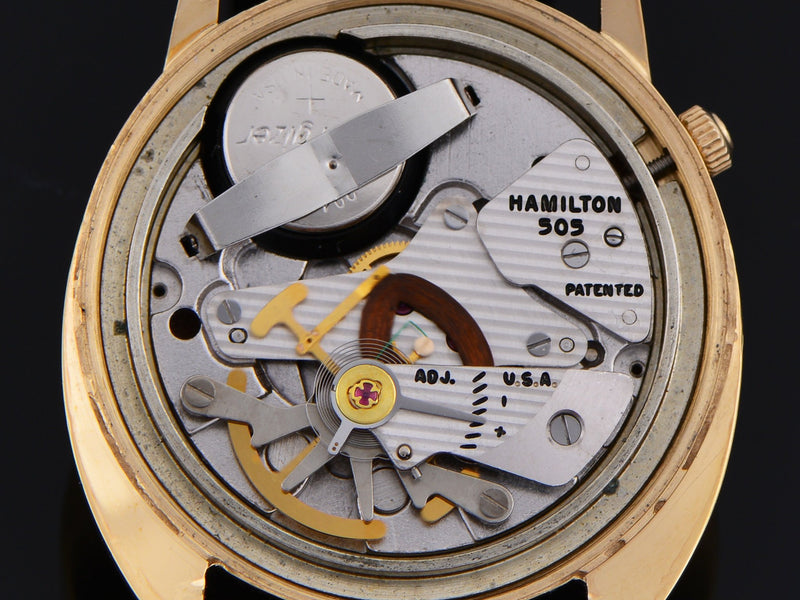 Hamilton Electric 505 Watch Movement in Saturn Case