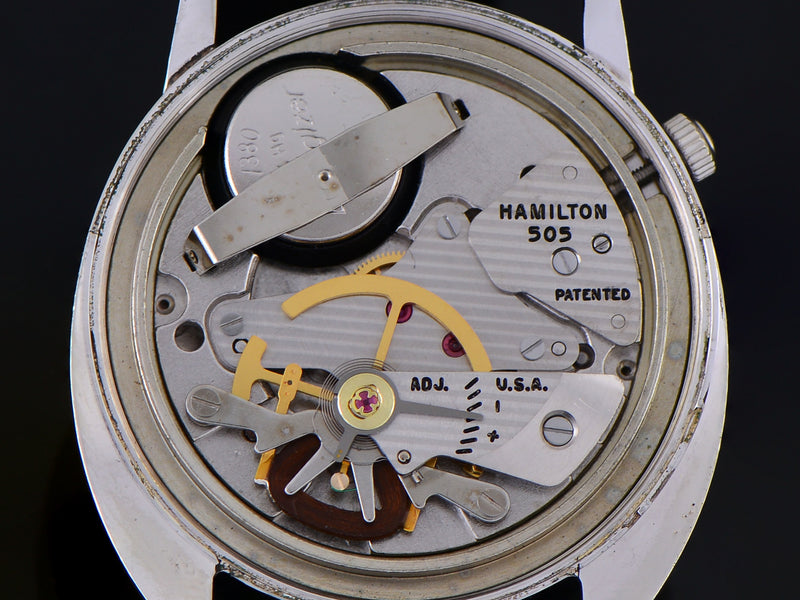 Hamilton Electric Saturn White Gold Filled 505 Electric Watch Movement