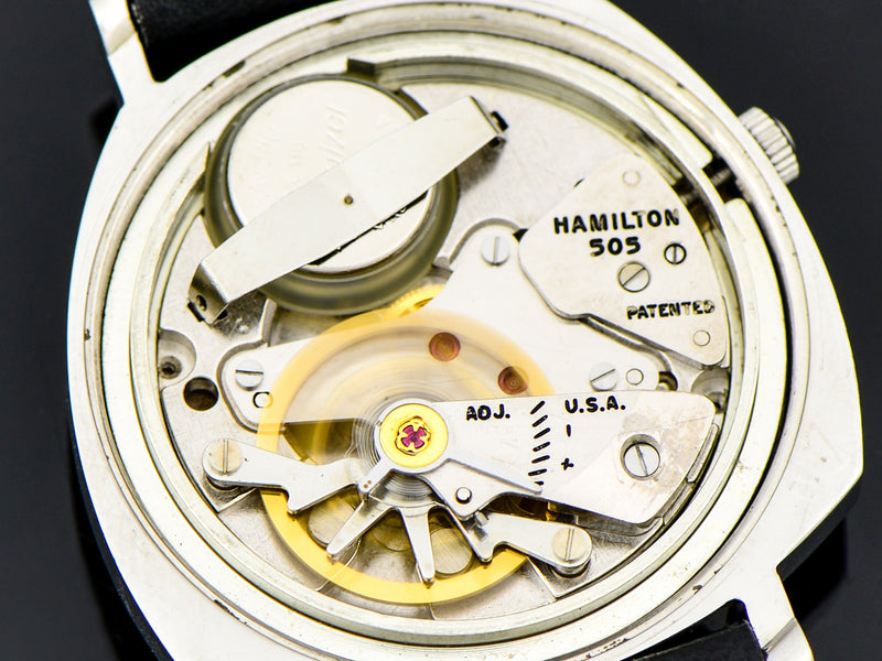 Hamilton Electric Custom Black Dial Sea-Lectric II 505 Electric Watch Movement | Vintage