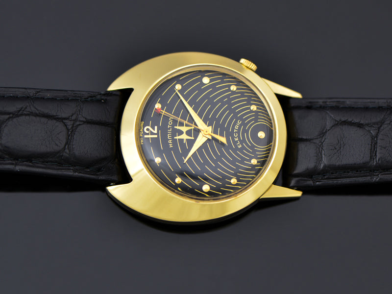Hamilton Electric Spectra 18K Gold Original Black Hamilton Employee Award Style Dial
