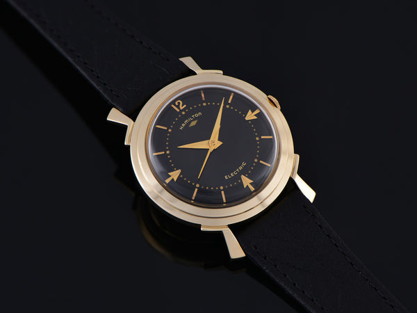 Hamilton Electric Van Horn 14K Black Dial Watch