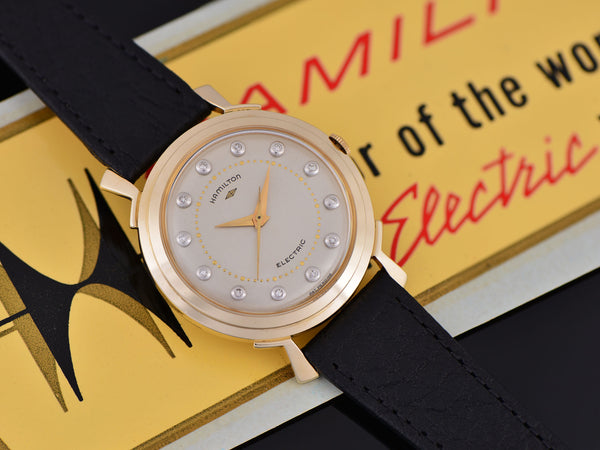 Hamilton Electric Van Horn 14K Diamond Dial Watch