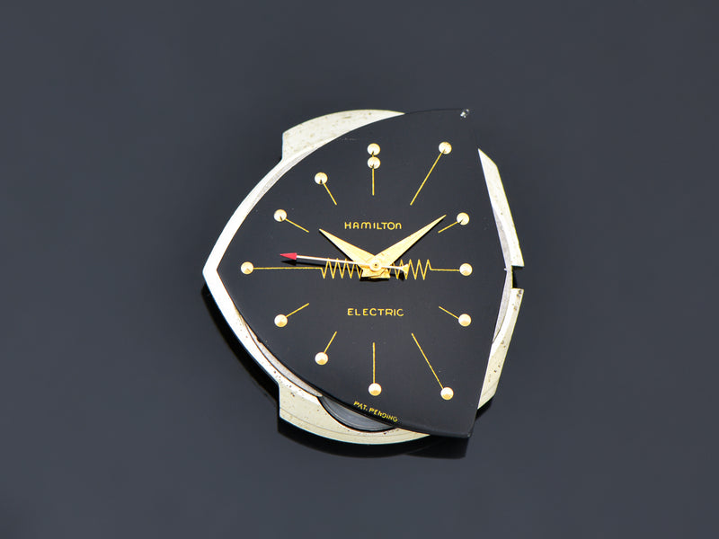 Hamilton Electric Ventura 14K Gold Black Watch Dial