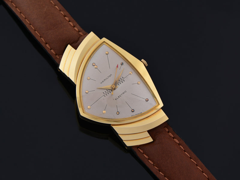 Hamilton Electric Ventura Mint 18K Yellow Gold Watch