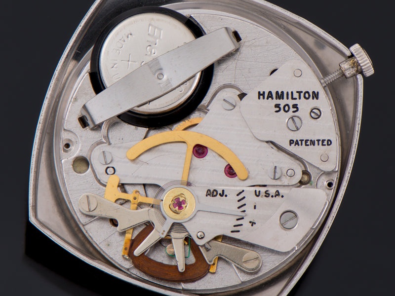 Hamilton Electric White Gold Filled Gemini 505 Electric Watch Movement