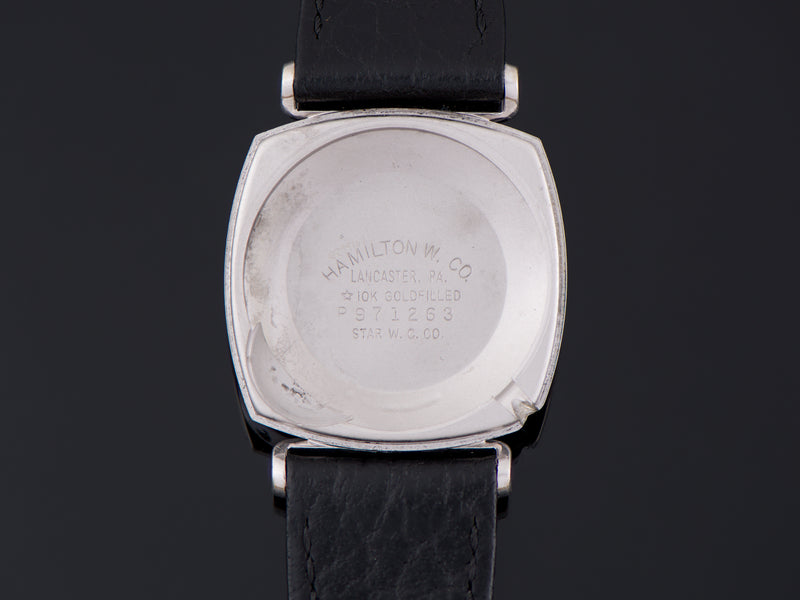 Hamilton Electric White Gold Filled Gemini Inner Watch Case Back