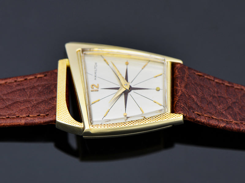 Hamilton Flight I 14K Solid Gold Watch