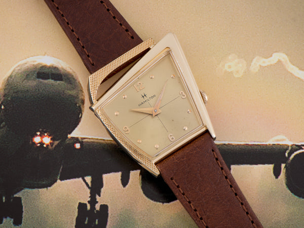 Hamilton Flight II Asymmetric Watch With Original Dial