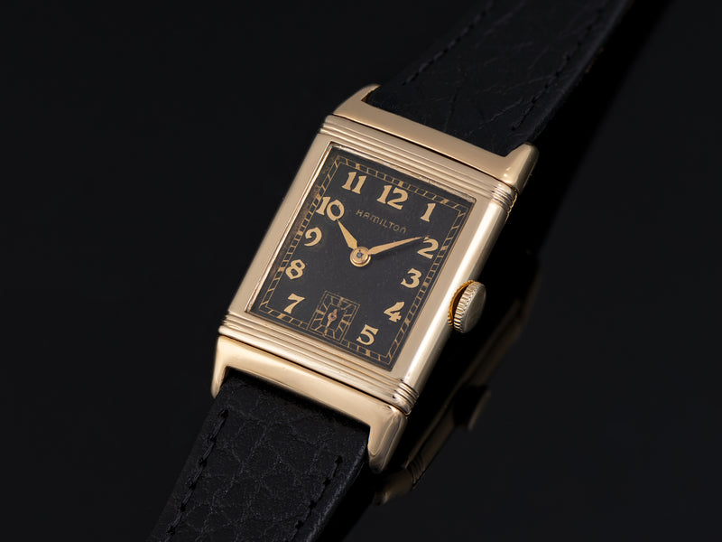 "Hamilton Otis ""Reverso"" Original Black Dial Watch"
