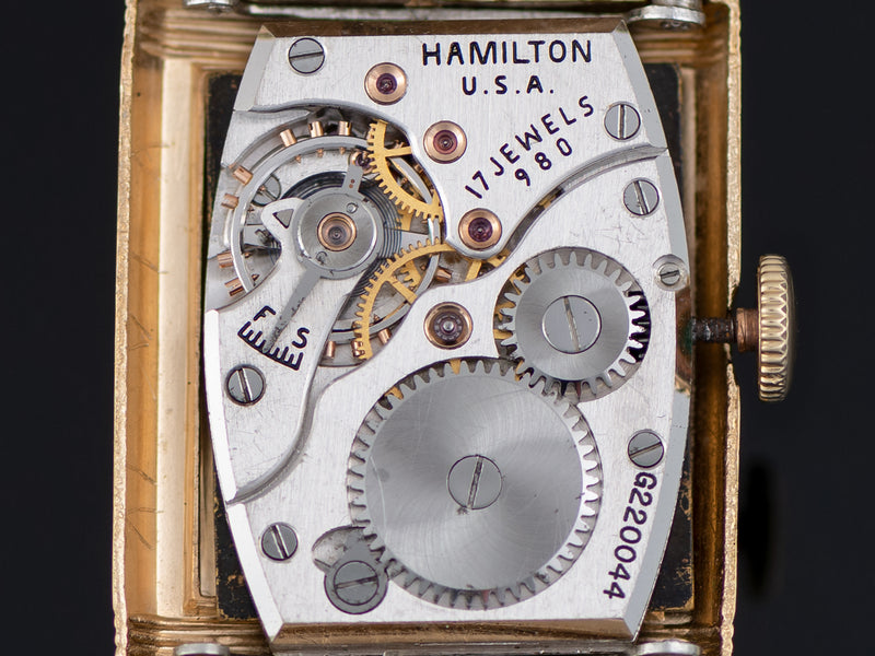 "Hamilton Otis ""Reverso"" Watch Manual Wind 982 Movement"
