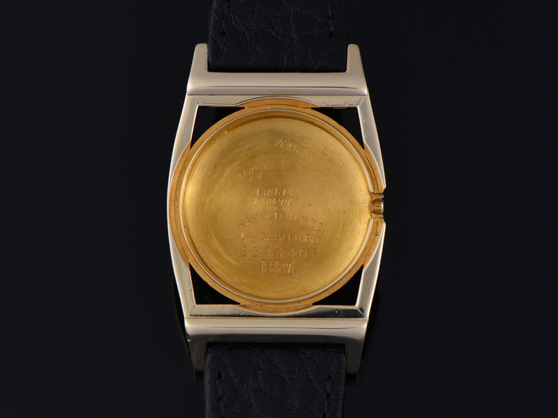Hamilton Piping Rock 14K Yellow Gold Inner Watch Case Back