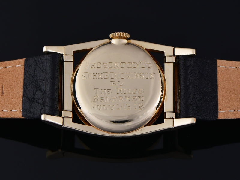 Hamilton Piping Rock 14K Yellow Gold Watch Case Back