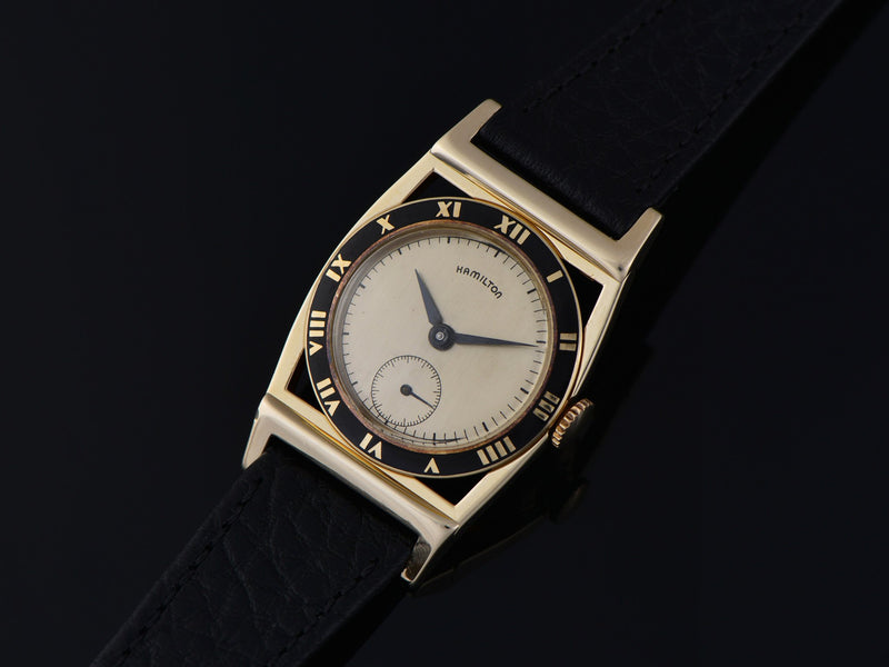 Hamilton Piping Rock 14K Yellow Gold Watch