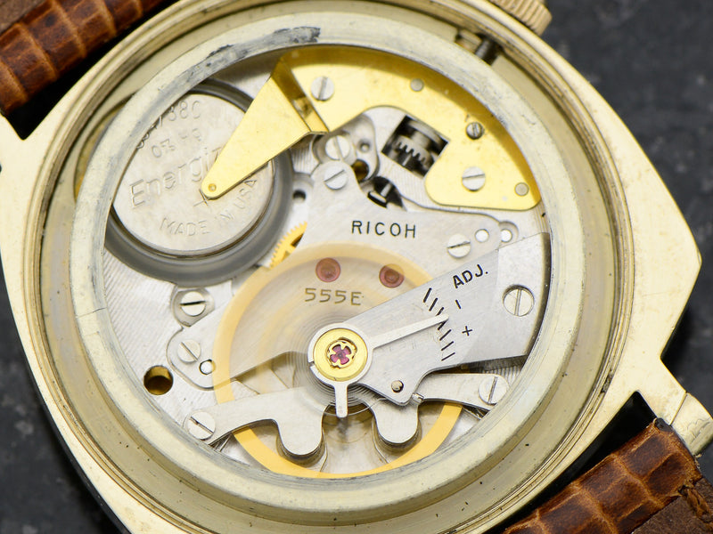 Hamilton-Ricoh 555E Engine Turned Watch Electric Movement
