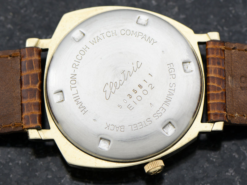 Hamilton-Ricoh 555E Engine Turned Watch Case Back