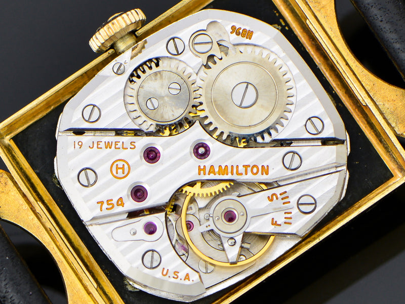 Hamilton Robert 14K Gold Watch 754 Movement