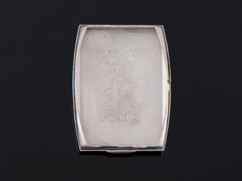 Hamilton Rutledge Platinum Inner Watch Case Back