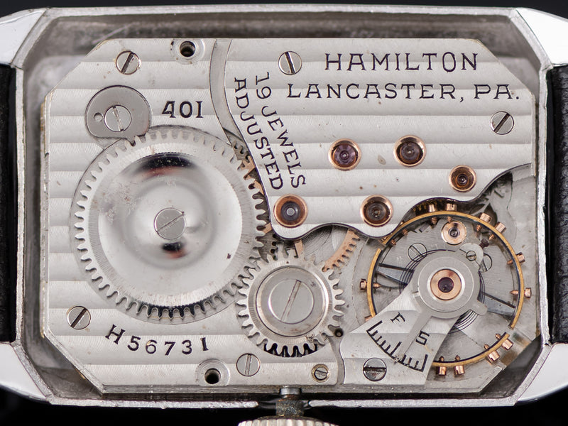 Hamilton Stanley White Gold Filled Explorer Series Watch 401 Movement