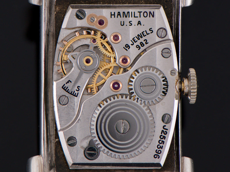 Hamilton Top Hat Private Label Platinum Diamond Dial Watch 982 Movement