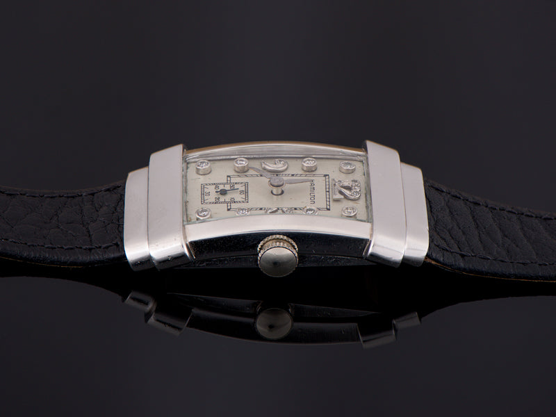 Hamilton Top Hat Private Label Platinum Diamond Dial Watch