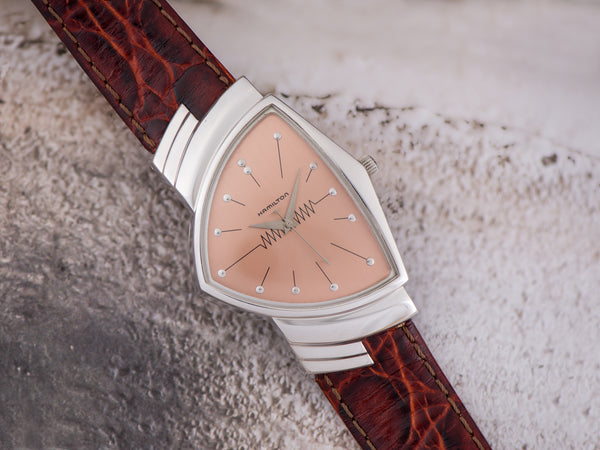Hamilton Ventura Reissue Rose Dial 6251 Registered Edition Watch