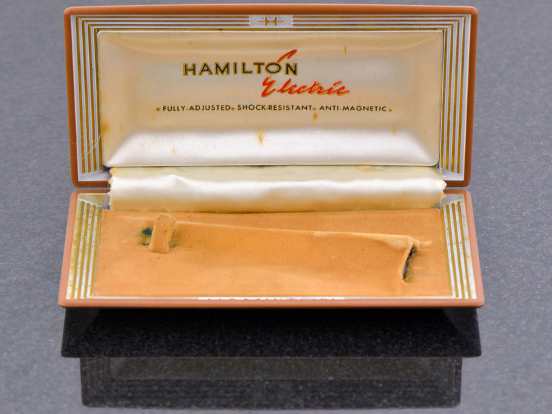 Hamilton Electric Mid 1957 Flat Clamshell Box