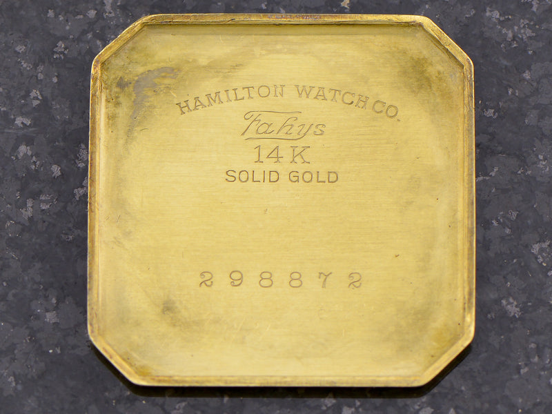 Hamilton 14K Green Gold Square Cut Corner