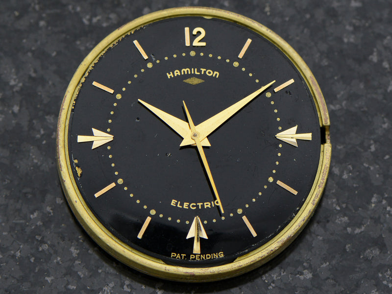 Hamilton Electric 14K Van Horn Black Dial Vintage Watch Original Dial