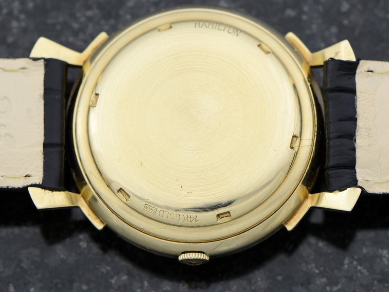 Hamilton Electric 14K Van Horn Black Dial