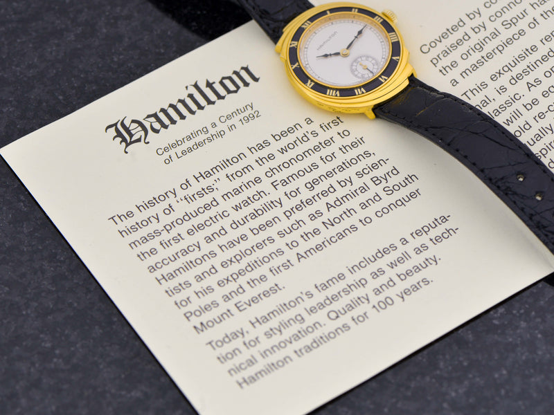 Hamilton Spur 18K Solid Gold Limited Edition Reissue Watch