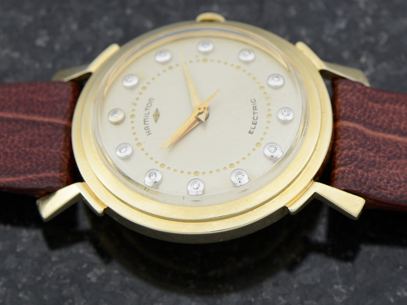 Hamilton Electric 14K Diamond Dial Van Horn Vintage Watch