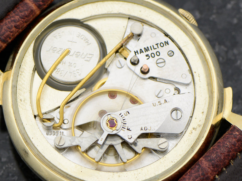 Hamilton Electric 14K Diamond Dial Van Horn Vintage Watch 505 Hamilton Electric Movement