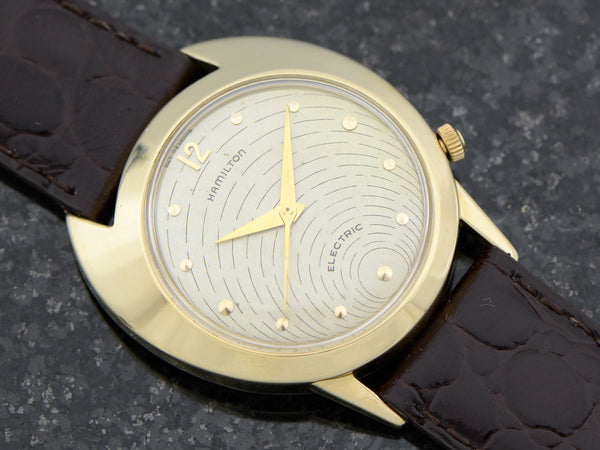 Hamilton Electric 14K Silver Dial Spectra Watch