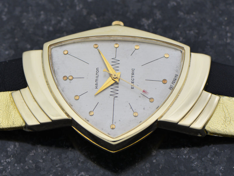 Hamilton Electric 14K Silver Dial Ventura Watch