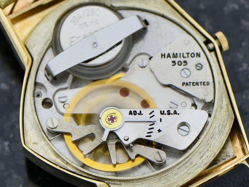 Hamilton Electric 14K Silver Dial Ventura Watch 505 Electric Movement