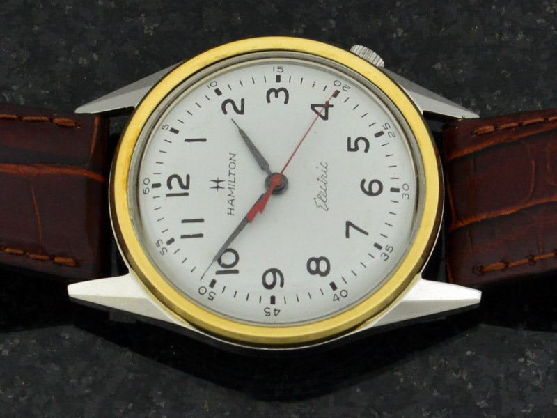 Hamilton Electric Clearview White Dial Vintage Watch