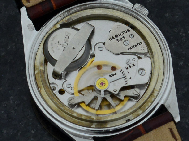 Hamilton Electric Clearview White Dial Vintage Watch 505 Hamilton Electric Movement