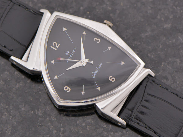 Hamilton Electric Custom Rhodium Black Pacer Ventage Watch