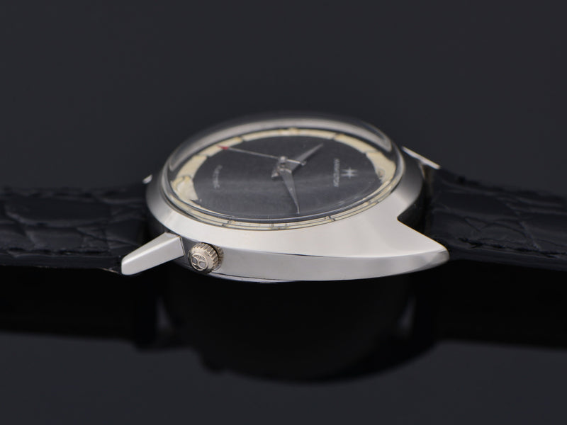 Hamilton Electric Saturn White Gold Filled Original Black Dial Watch
