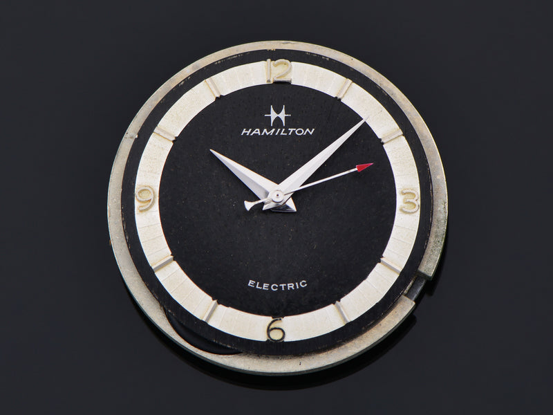 Hamilton Electric Saturn White Gold Filled Original Black Dial