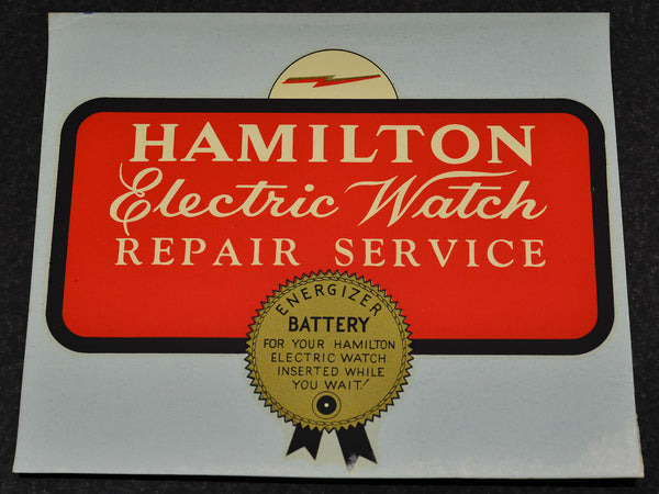 Hamilton Electric Watch Repair Service Decal
