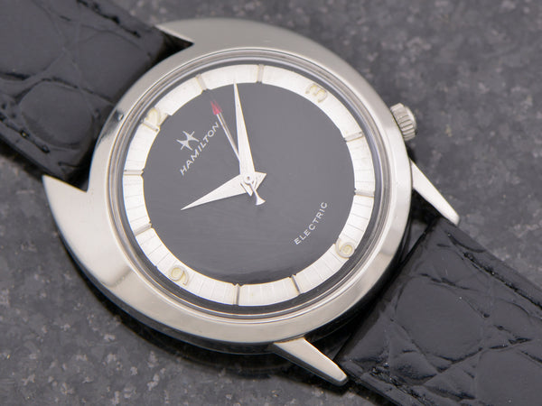 Hamilton Electric White GF Saturn Black Dial