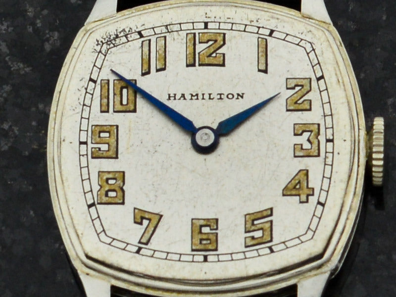 Hamilton Cushion White Gold Filled Watch Dial